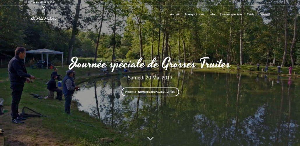 Au petit Pecheur, creare site web