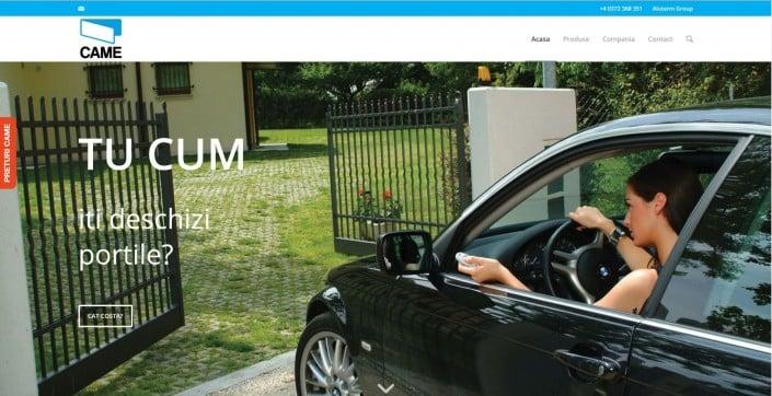 CAME Romania, creare site web