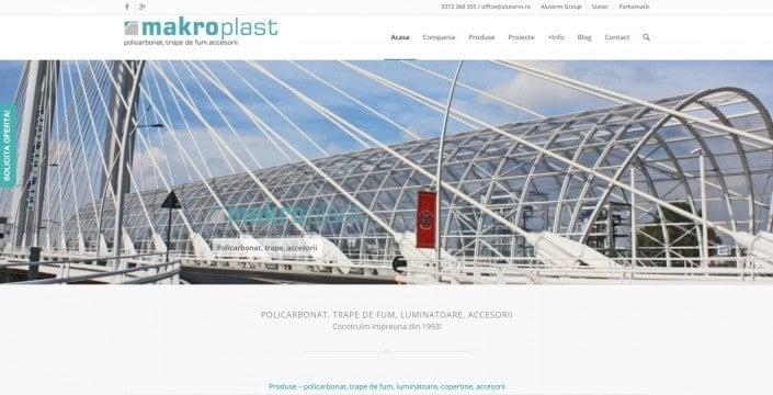 Makroplast, creare site web