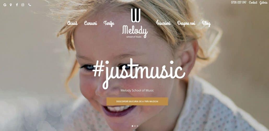 Melody School of Music, creare site web
