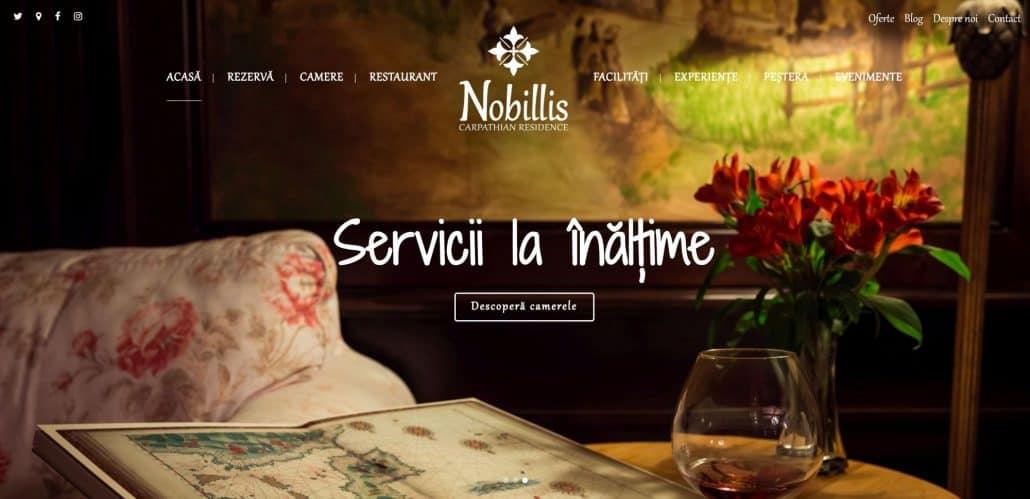 Nobillis - The Carpathian Residence, creare site web