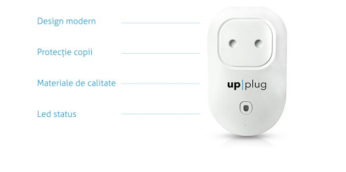 upplug, white plug with legend