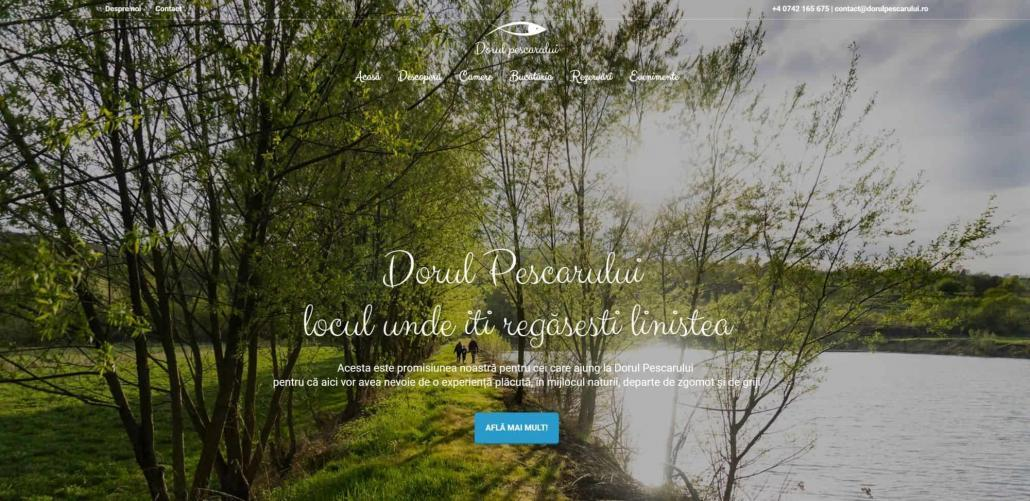Dorul Pescarului, creare site web