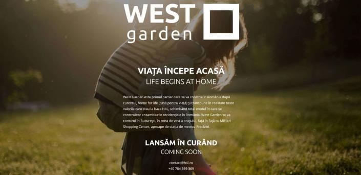 West Garden, web design, creare site web