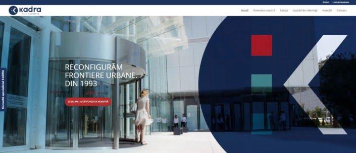KADRA website, creare site web