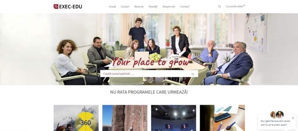 Exec-Edu website, creare site web