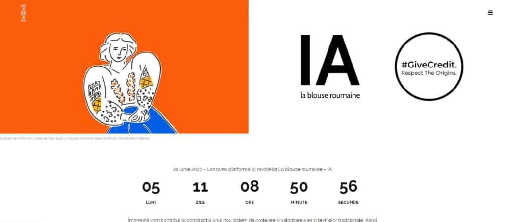 La Blouse Roumaine web, creare site website