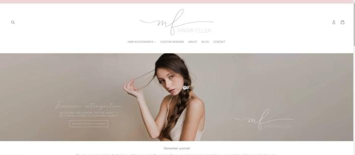 Maria Felea website, creare site web