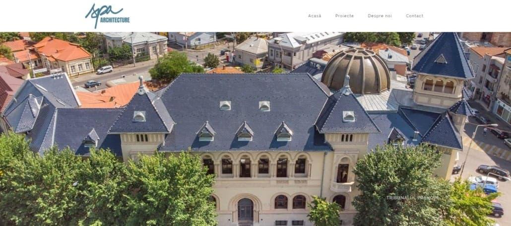 SPA Archi website, creare site web